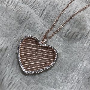 Genevieve Jewelry Rose Gold Heart Necklace